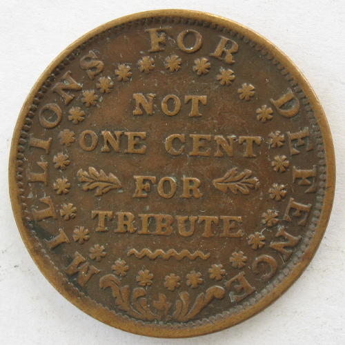 Hard Times Token 1841 'Webster's Credit' - reverse