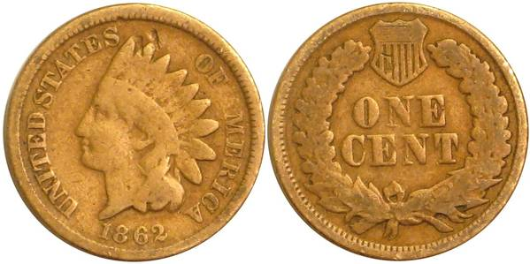 1862 Indian Head Cent G4