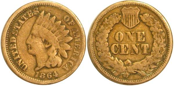 1864 Indian Head Cent G4