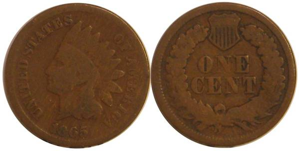 1865 Indian Head Cent G4