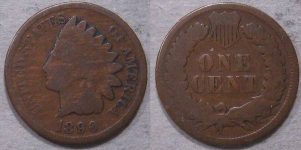 1890 Indian Head Cent G4