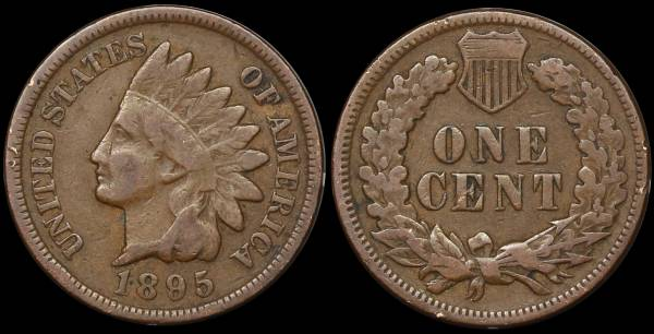 1895 Indian Head Cent F12