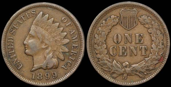 1899 Indian Head Cent F12