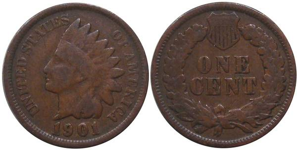 1901 Indian Head Cent G4