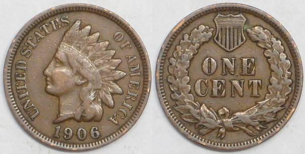 1906 Indian Cent F12