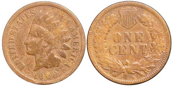 1908 S Indian Head Cent G