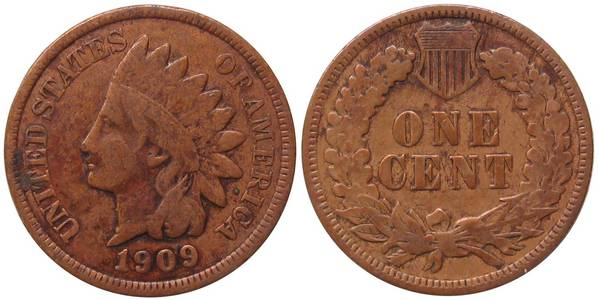 1909 P Indian Head Cent in G4