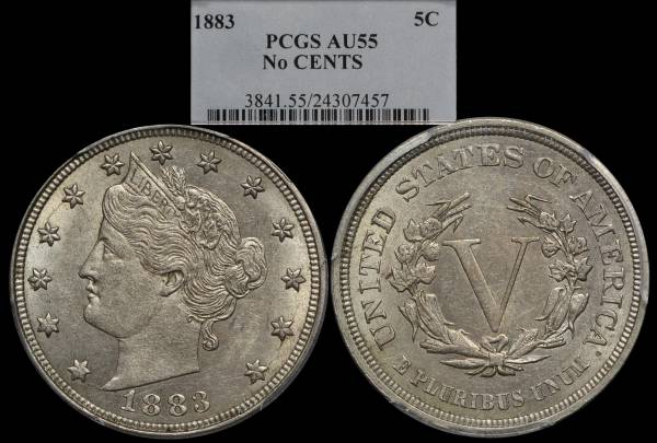 1883 Liberty Nickel NO CENTS PCGS AU55.jpg