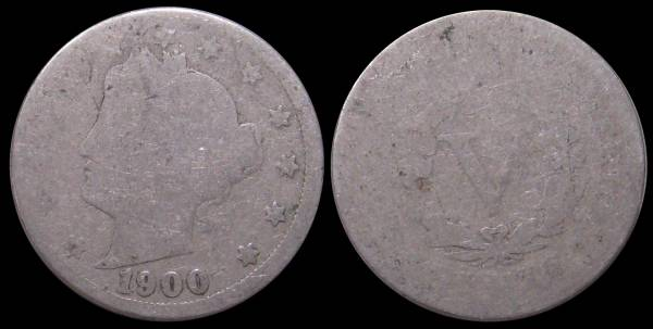 1900 Liberty Nickel Ag3