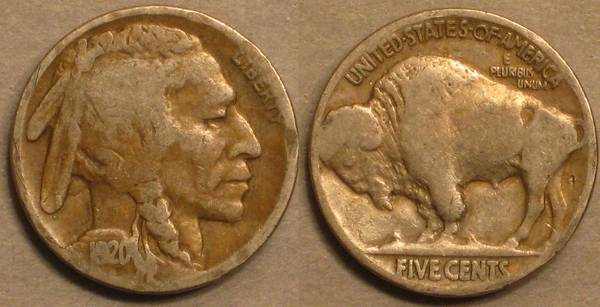 1920 P Buffalo Nickel G4