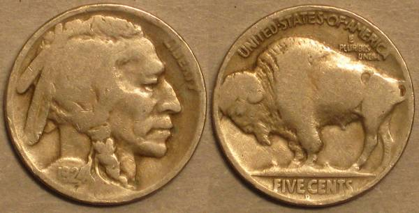 1924 D Buffalo Nickel G4