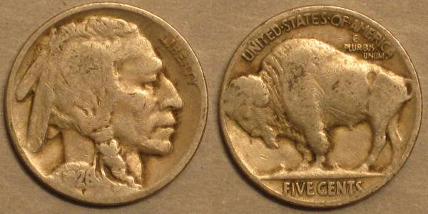 1928 P Buffalo Nickel Ag3