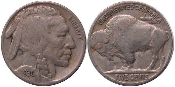 1930 P Buffalo Nickel VG8