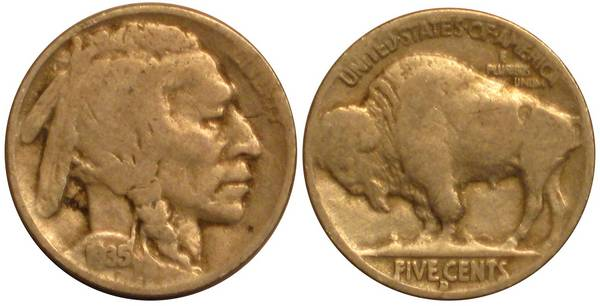 1935 D Buffalo Nickel G4