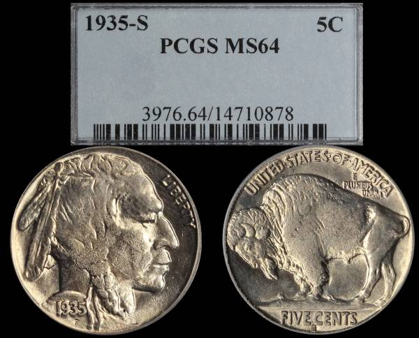 1935 S Buffalo Nickel PCGS MS64 14710878
