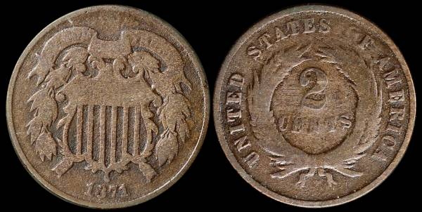 1871 two cent piece G