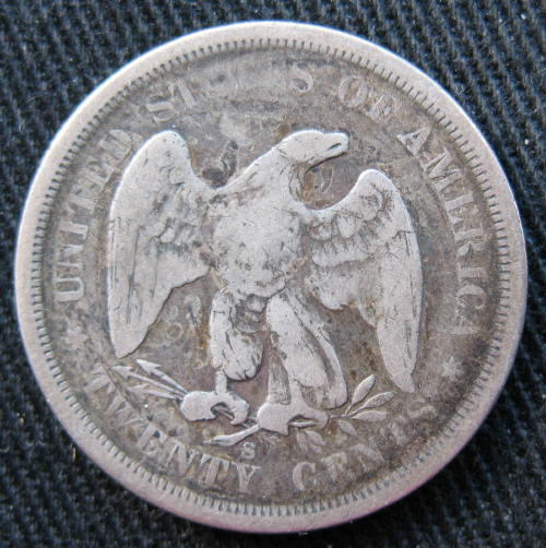 20 Cents 1875-S - reverse