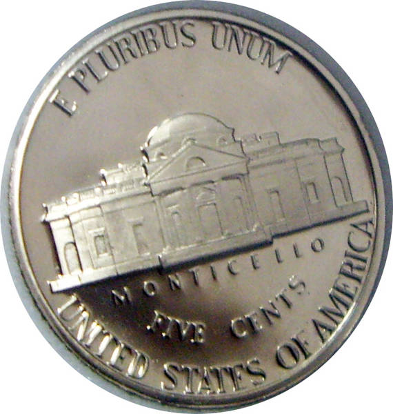 1979-S PR70 DCAM Jefferson Nickel reverse