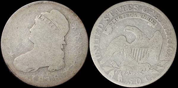 1818 Capped Bust Half Dollar Fair coin 16