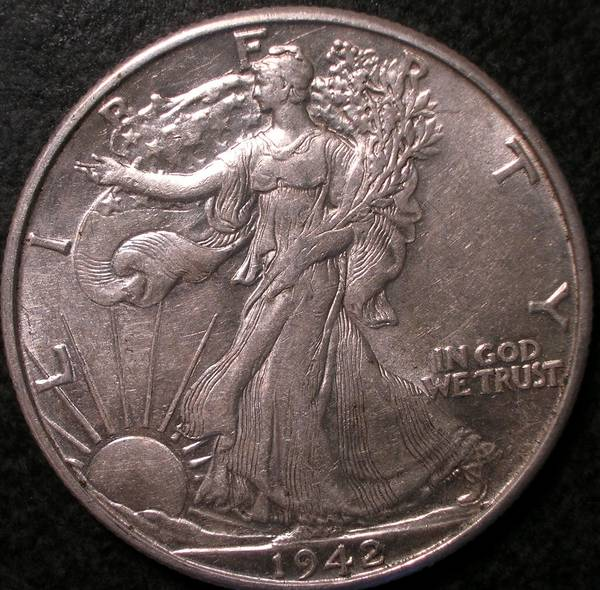 1942 P Walking Liberty Half