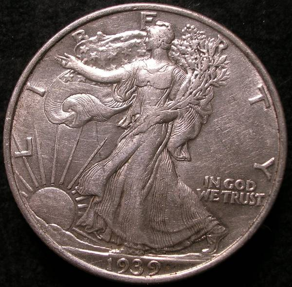1939 p Walking Liberty Half