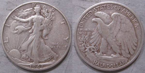 1947 D Walking Liberty Half F12