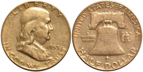 1953 D Franklin Half Average Circulation