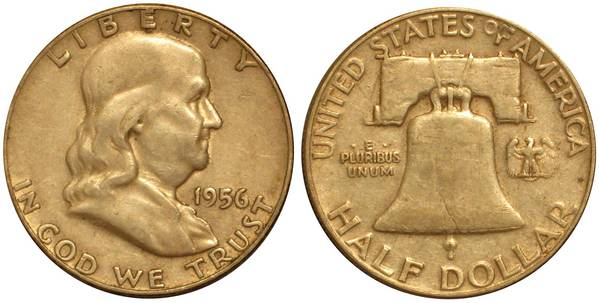 1956 P Franklin Half Average Circulation