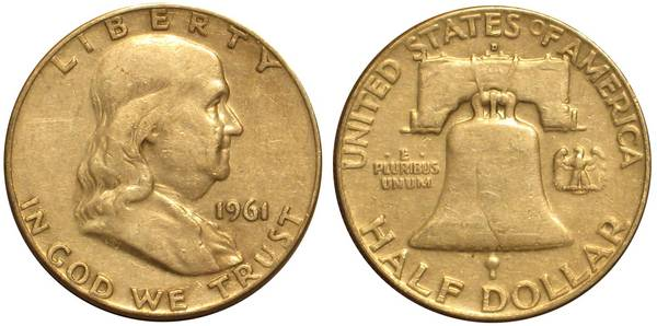 1961 D Franklin Half Average Circulation