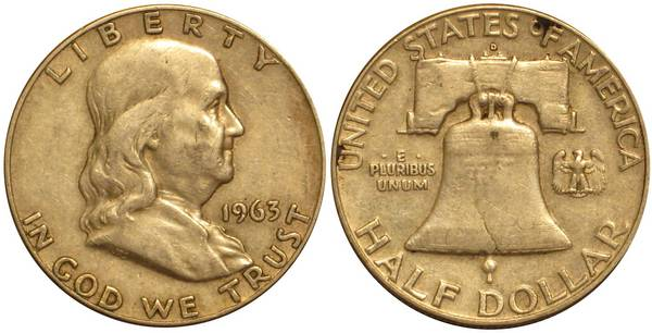 1963 D Franklin Half Average Circulation