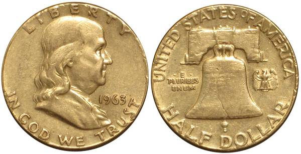 1963 P Franklin Half Average Circulation