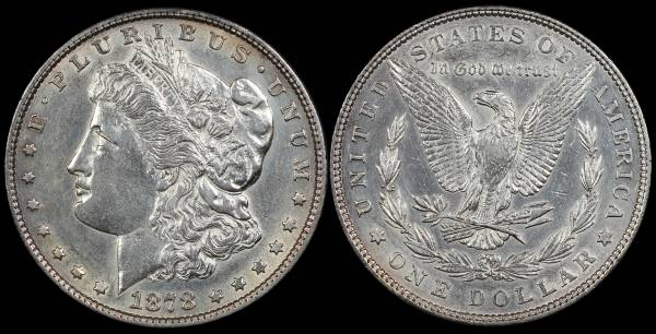 1878 P Morgan Dollar Cleaned