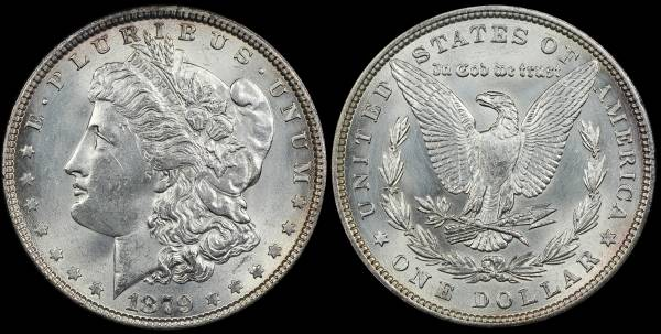 1879 P Morgan Dollar Cleaned