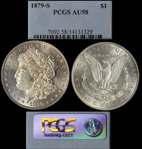 1879 S Morgan Dollar PCGS AU58 14131329 Display