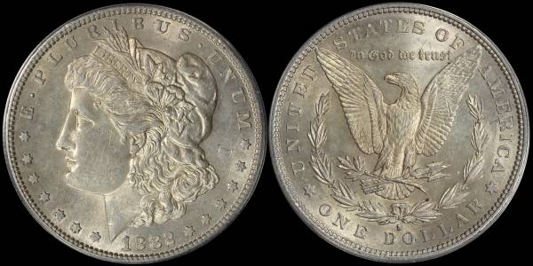 1882 S Morgan Dollar ANACS MS60 Cleaned 5048302