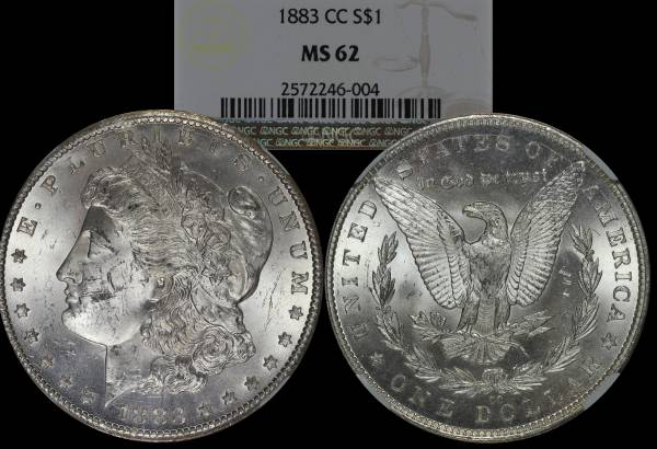 1883 CC Morgan Dollar NGC MS62 2572246-004