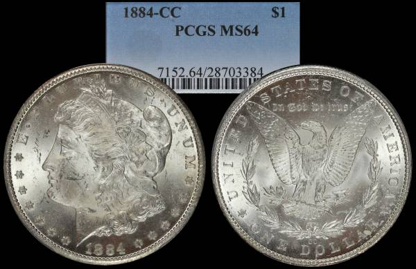 1884 CC Morgan Dollar PCGS MS64 28703384