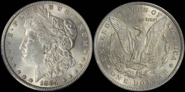 1884 P Morgan Dollar ANACS MS62 5048303
