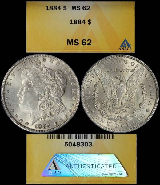 1884 P Morgan Dollar ANACS MS62 5048303 display