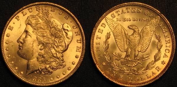 BU 1885 O Morgan Dollar