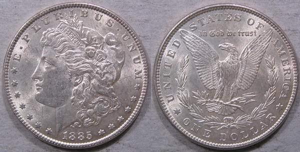1885 P Morgan Silver Dollar Choice BU