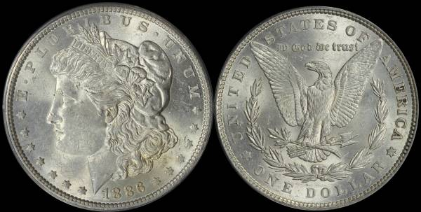 1886 P Morgan Dollar ANACS AU58 5048306