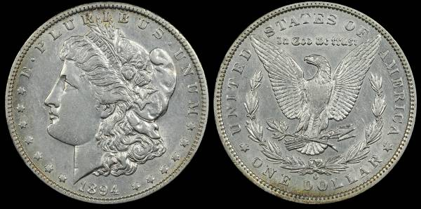 1894 O Morgan Dollar XF-AU