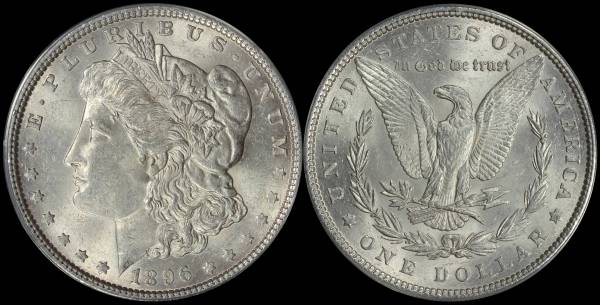 1896 P Morgan Dollar ANACS AU58 5048308