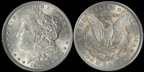 1896 P Morgan Dollar ANACS MS62 5048309