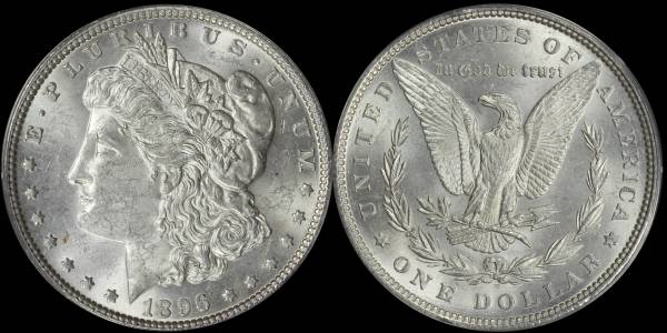 1896 P Morgan Dollar ANACS MS62 5048311