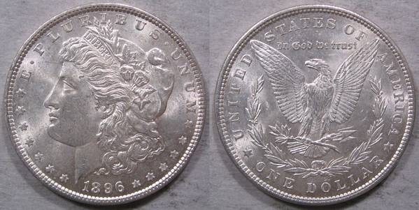 1896 P Morgan Silver Dollar Choice BU