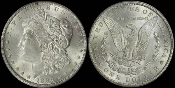 1899 O Morgan Dollar ANACS MS63 5048312