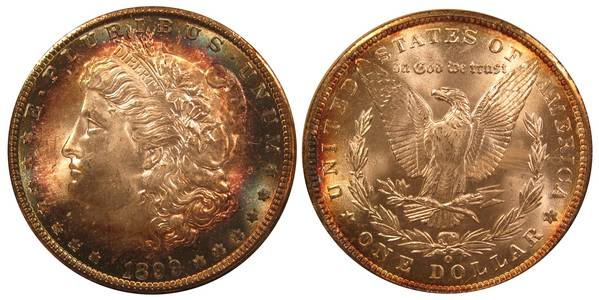 An 1899 O Silver Dollar Toned