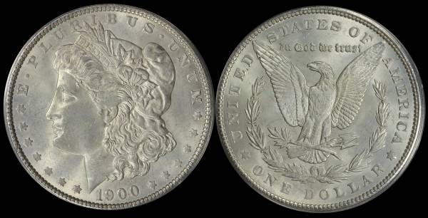 1900 P Morgan Dollar ANACS MS60 Cleaned 5048313